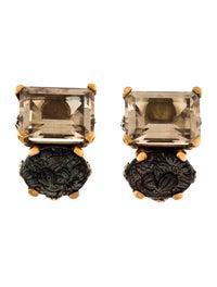 Multistone Clip-On Earrings image 1