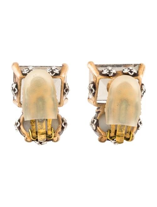 Multistone Clip-On Earrings