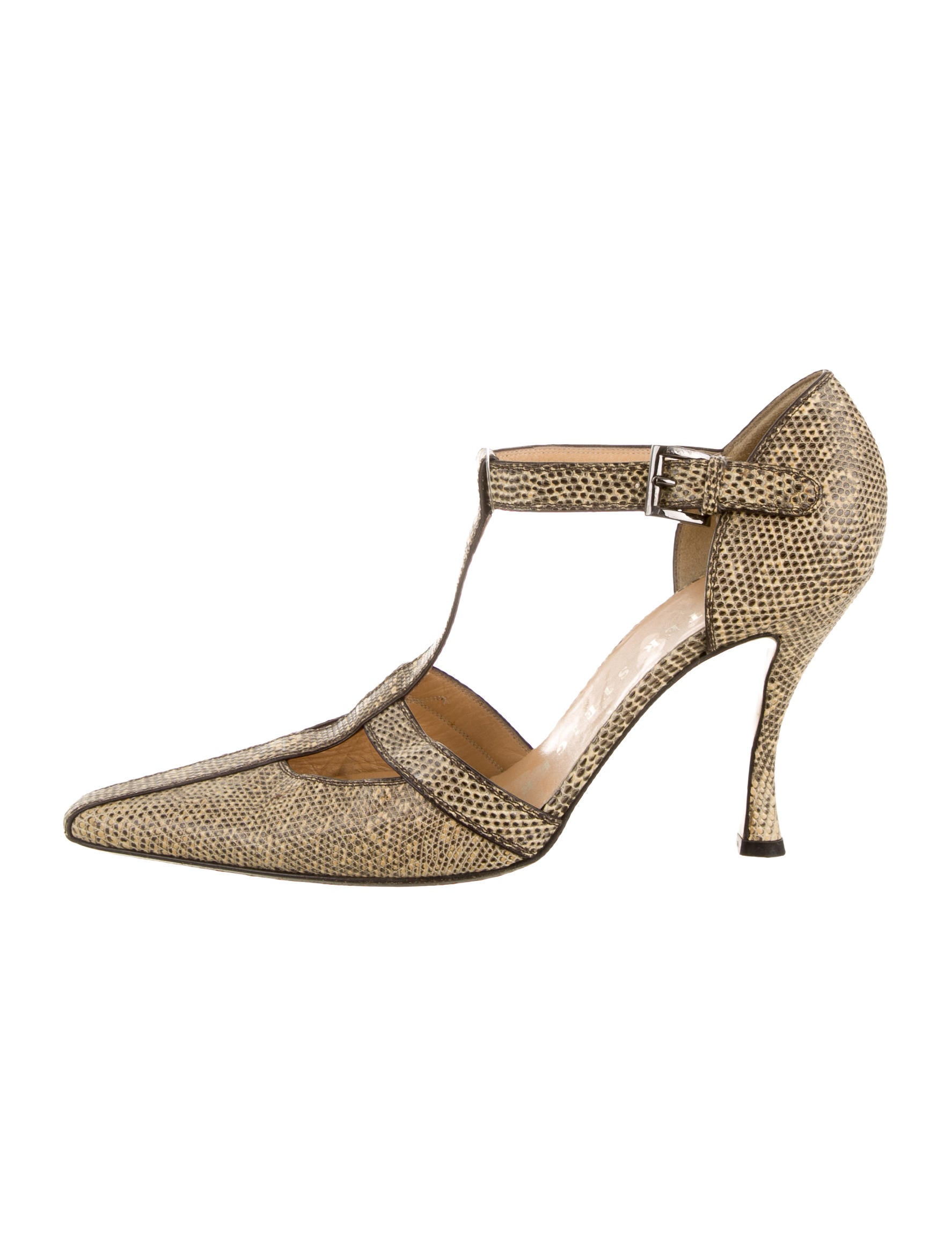 walter steiger lizard t strap pumps shoes sti20384 the realreal. Black Bedroom Furniture Sets. Home Design Ideas