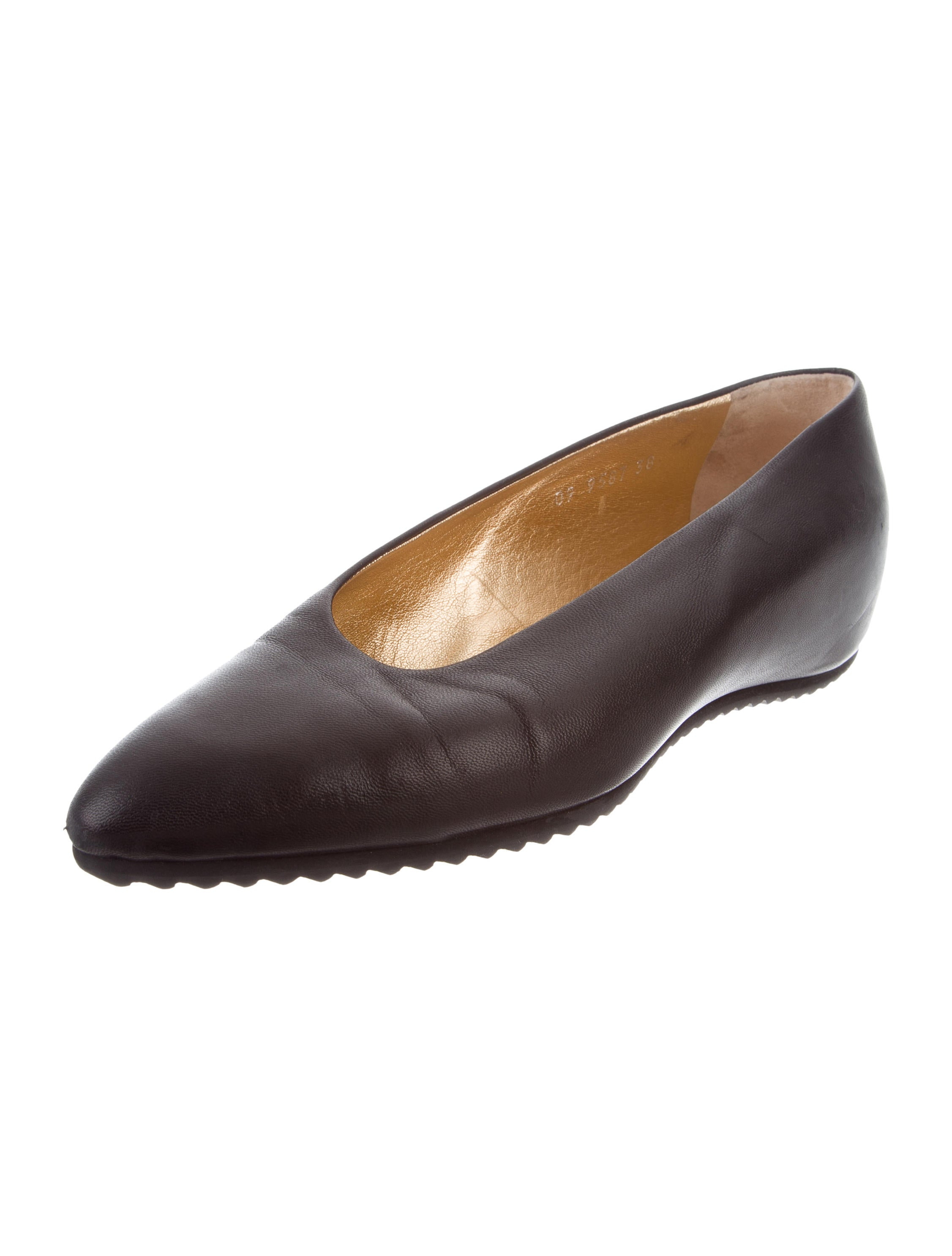 discount visa payment Walter Steiger Leather Pointed-Toe Flats discounts for sale footaction cheap price free shipping low price discount best place XwSj7ykp