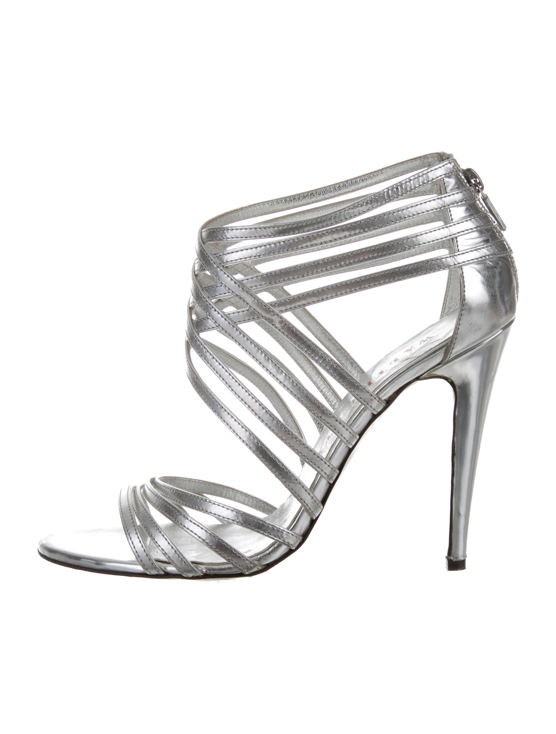 Walter Steiger Metallic Multistrap Sandals clearance best wholesale sale pre order free shipping pay with visa s2Q4biwbGl