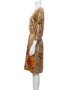 St. John Silk Knee-Length Dress