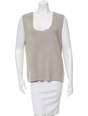 St. John Sleeveless Rib Knit Top w/ Tags None