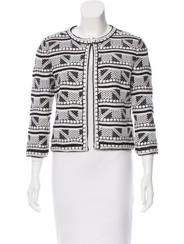 St. John Jacquard Knit Jacket w/ Tags