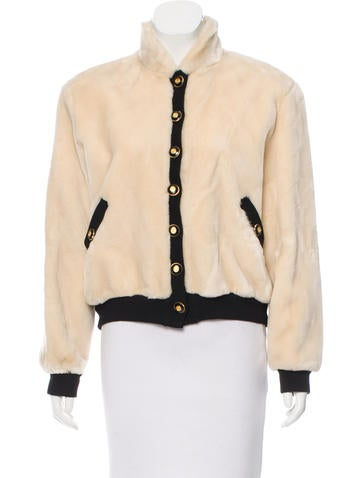 St. John Faux Fur Casual Jacket None