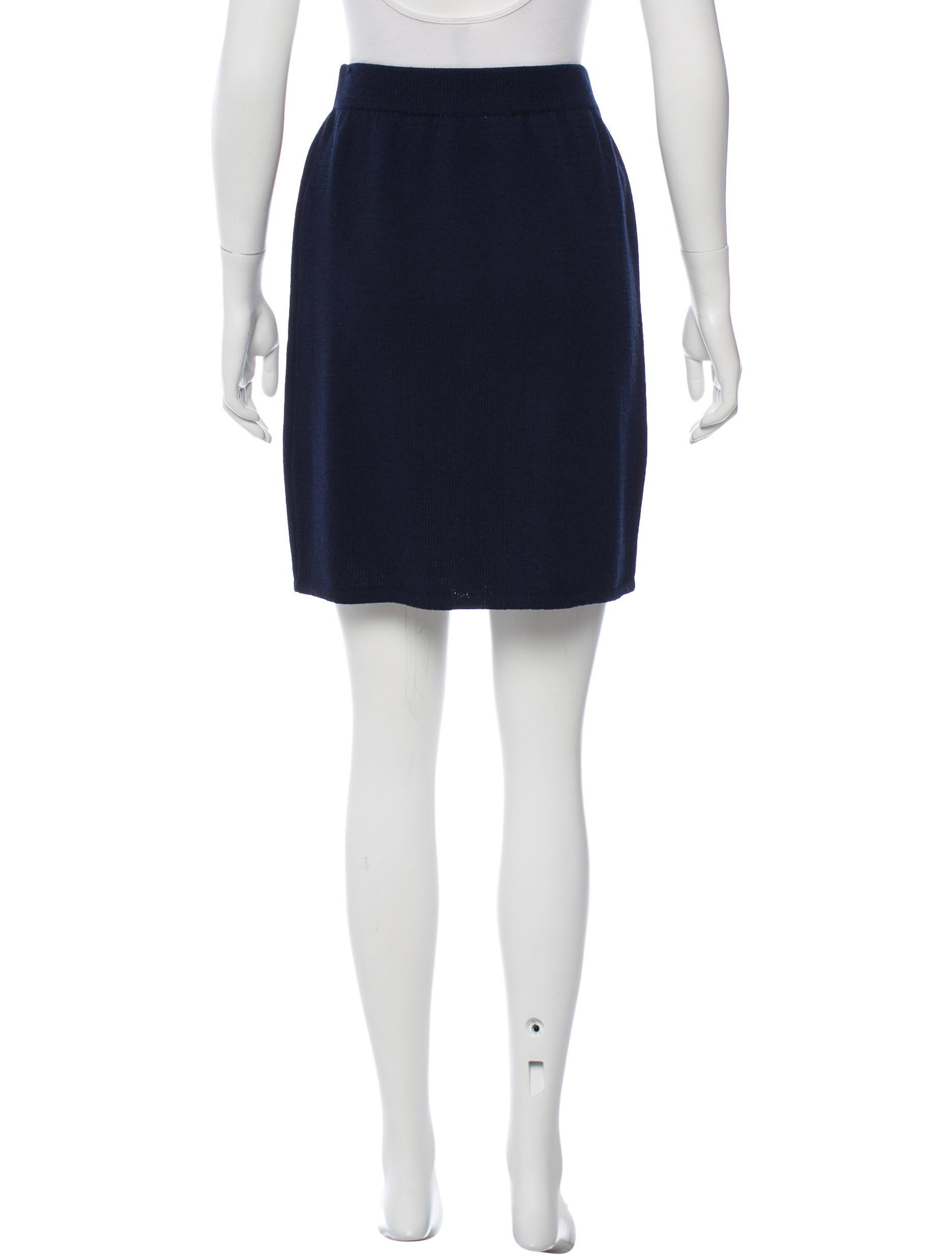 st knit knee length skirt clothing stj21116