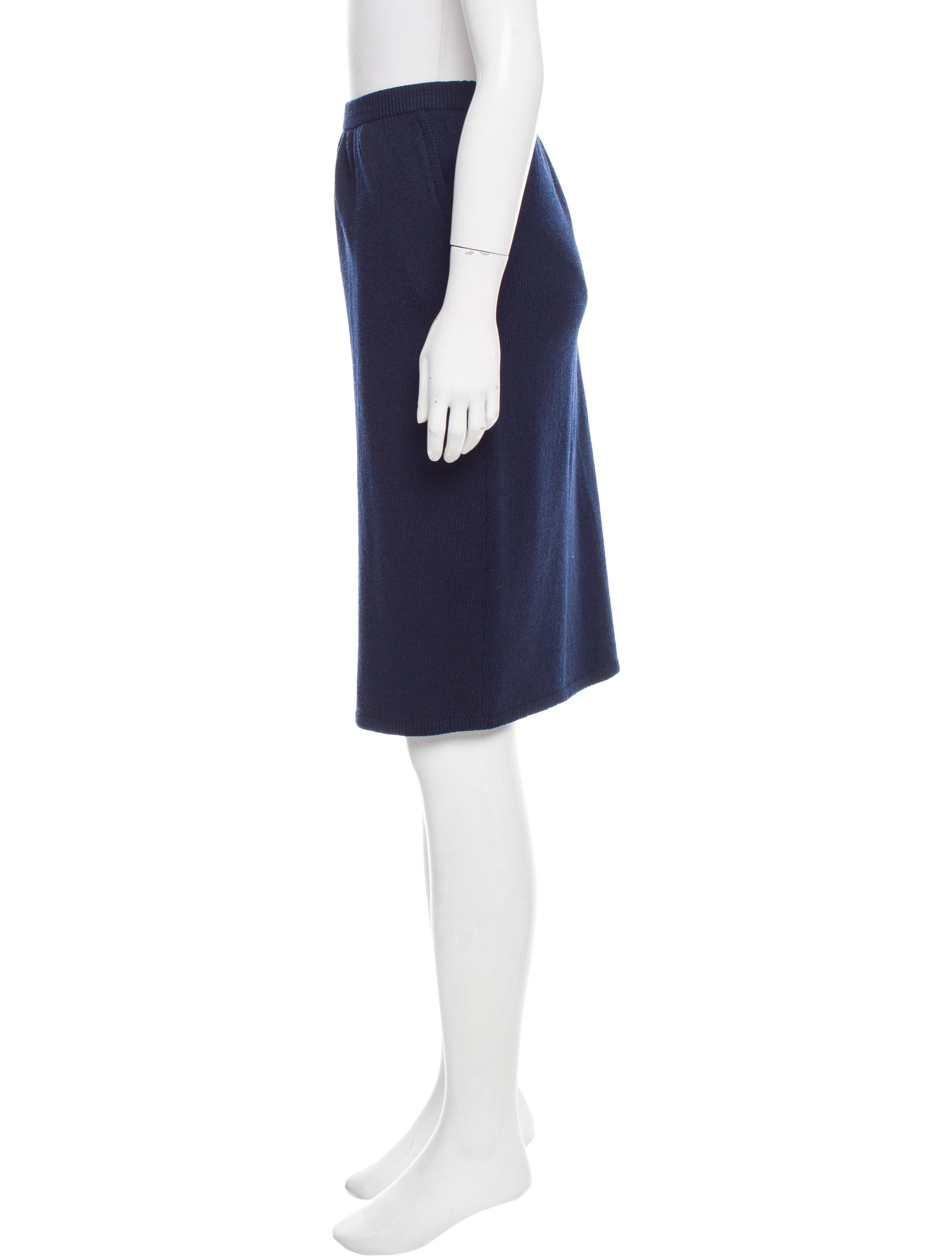 st knee length knit skirt clothing stj21501