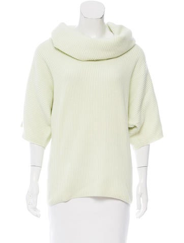 St. John Cashmere Rib Knit Sweater None