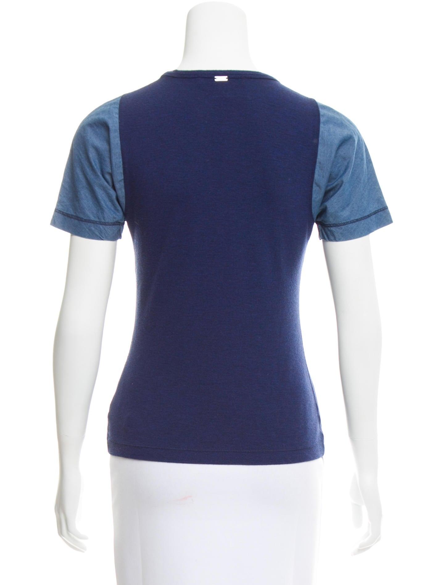 St John Short Sleeve Crew Neck T Shirt Clothing