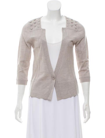 St. John Long Sleeve Knit Cardigan None