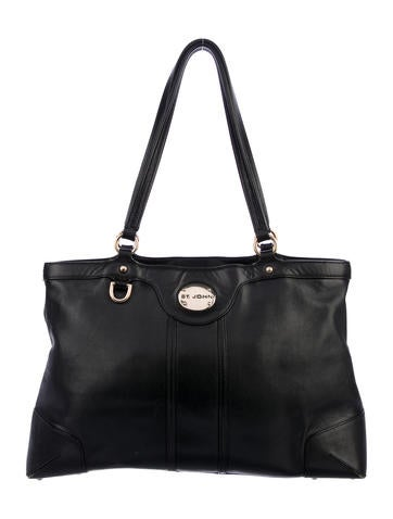 Product Name St John Leather Shoulder Tote