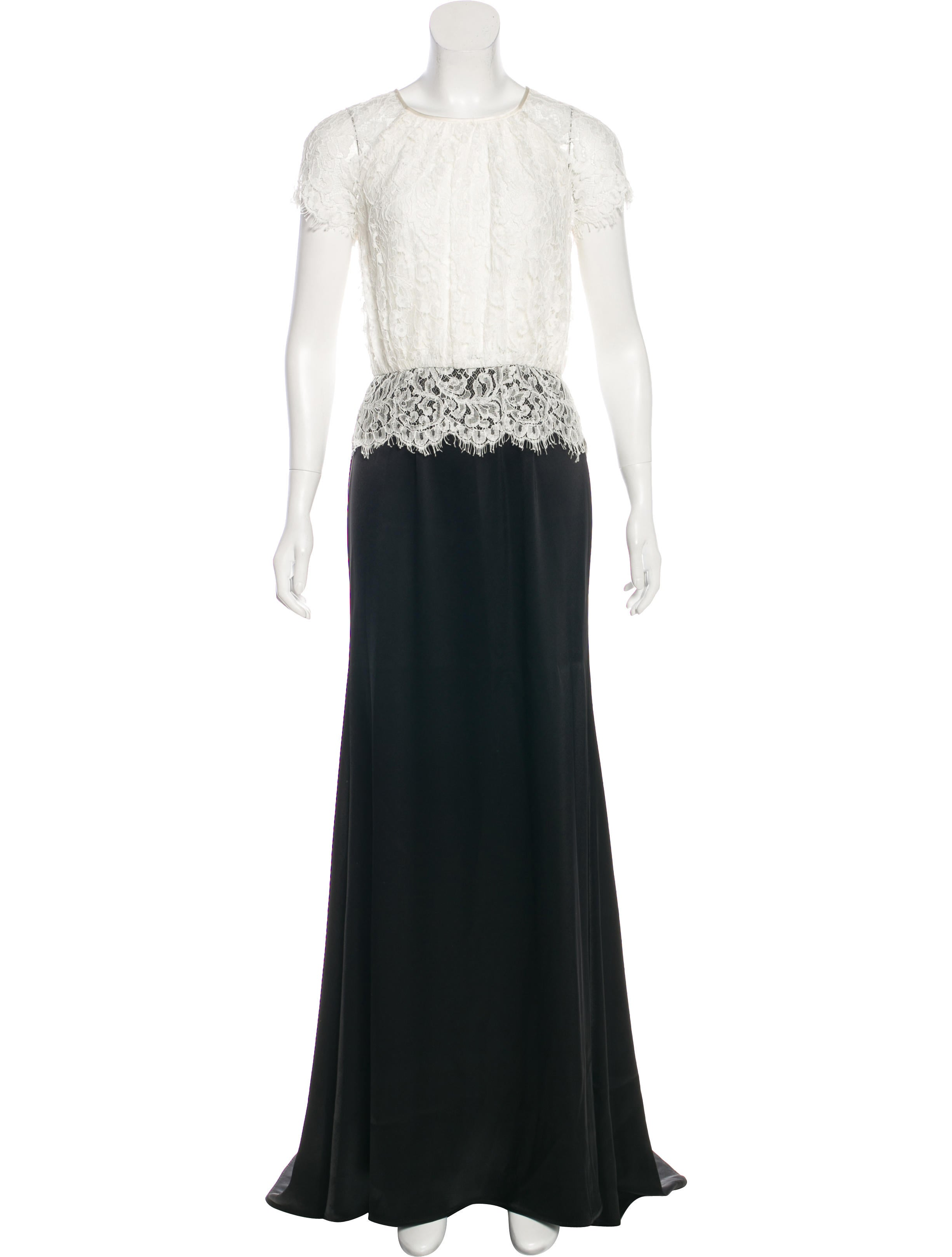 St. John Lace Evening Dress - Clothing - STJ25360   The RealReal
