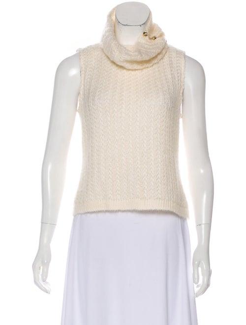 St. John Sleeveless Turtleneck Sweater