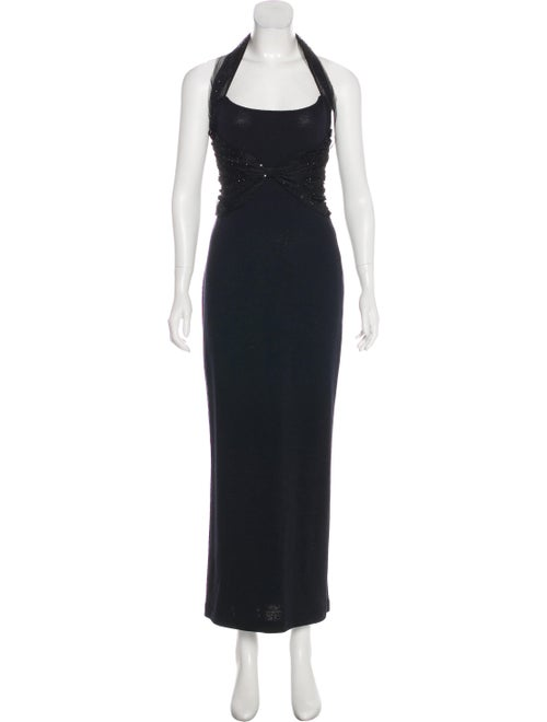 St. John Knit Maxi Dress black