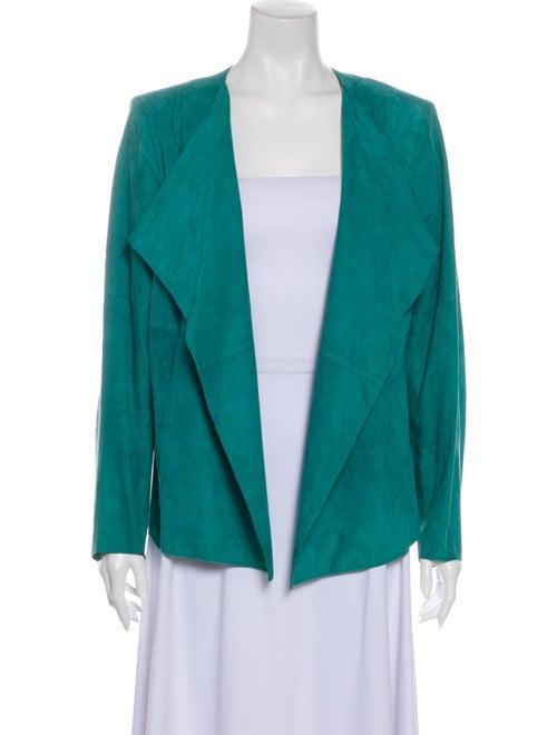 St. John Suede Jacket Green