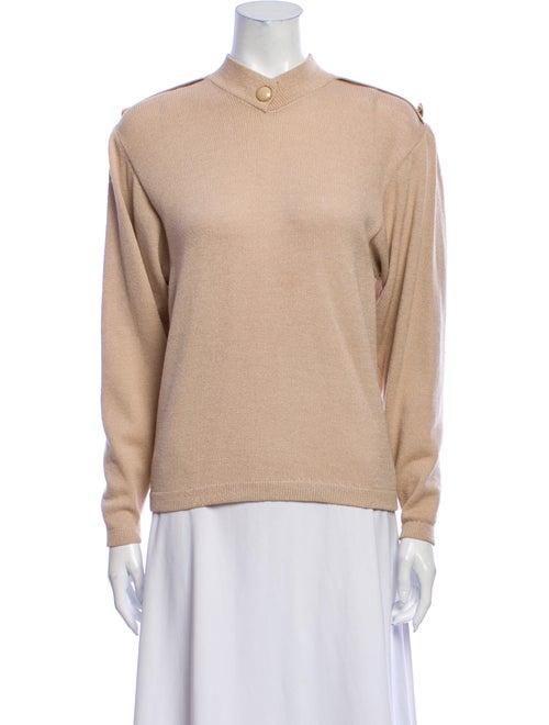 St. John Vintage Mock Neck Sweater