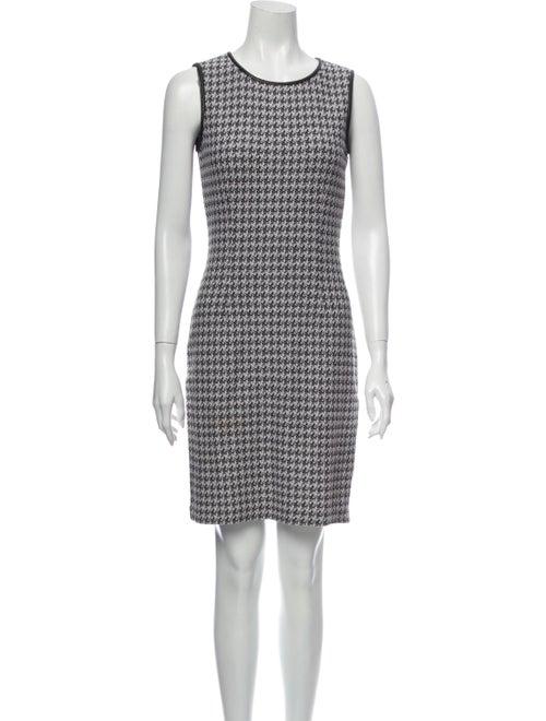 St. John Houndstooth Print Mini Dress