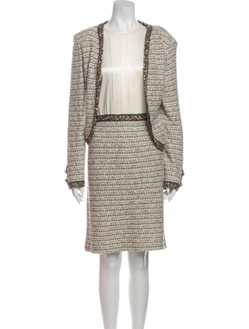 St. John Tweed Pattern Dress Set - image 1
