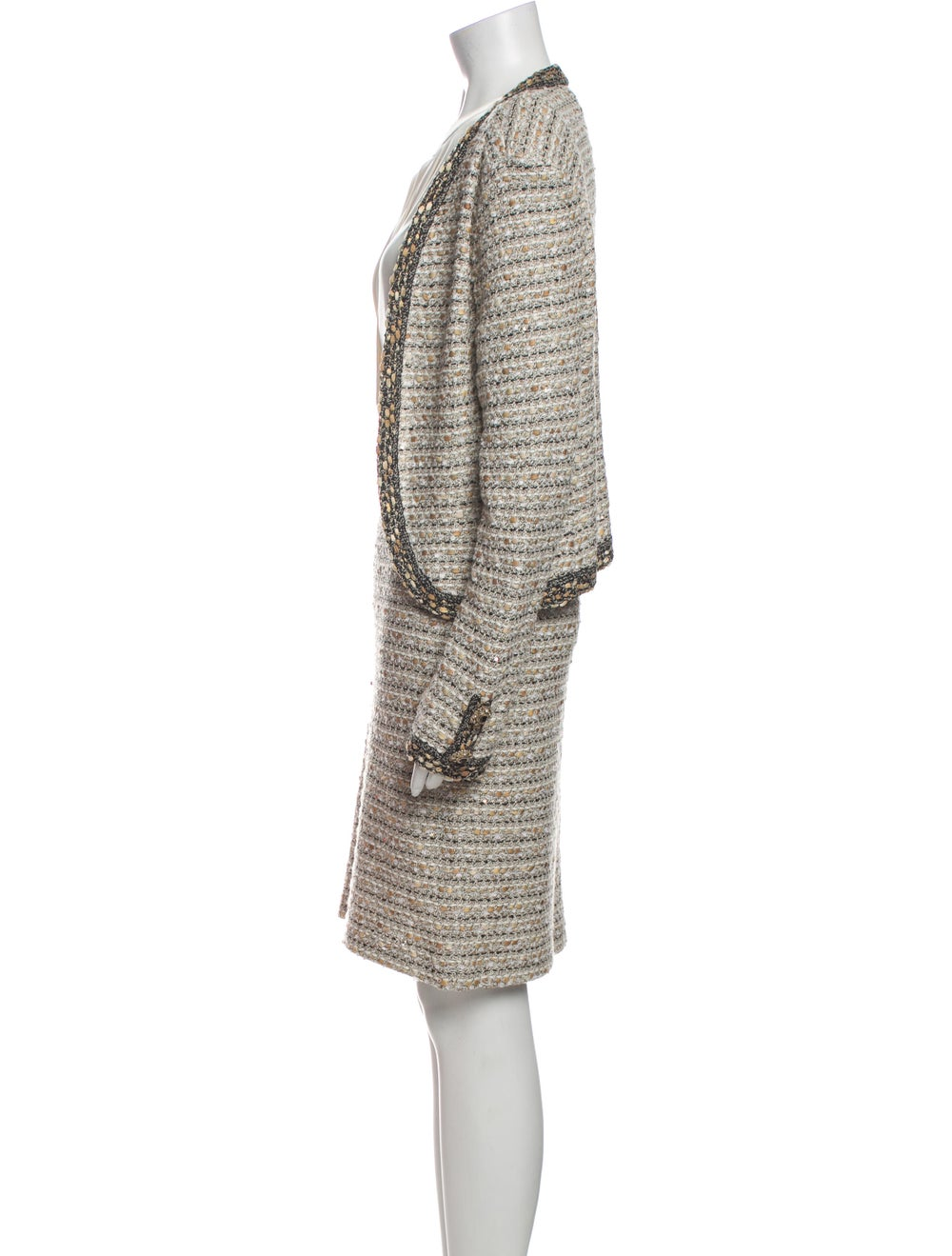 St. John Tweed Pattern Dress Set - image 2