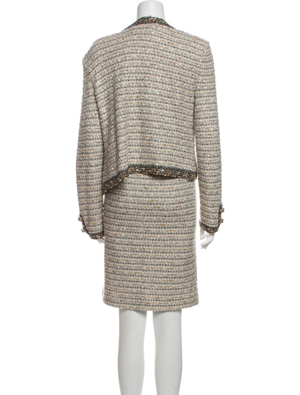 St. John Tweed Pattern Dress Set - image 3