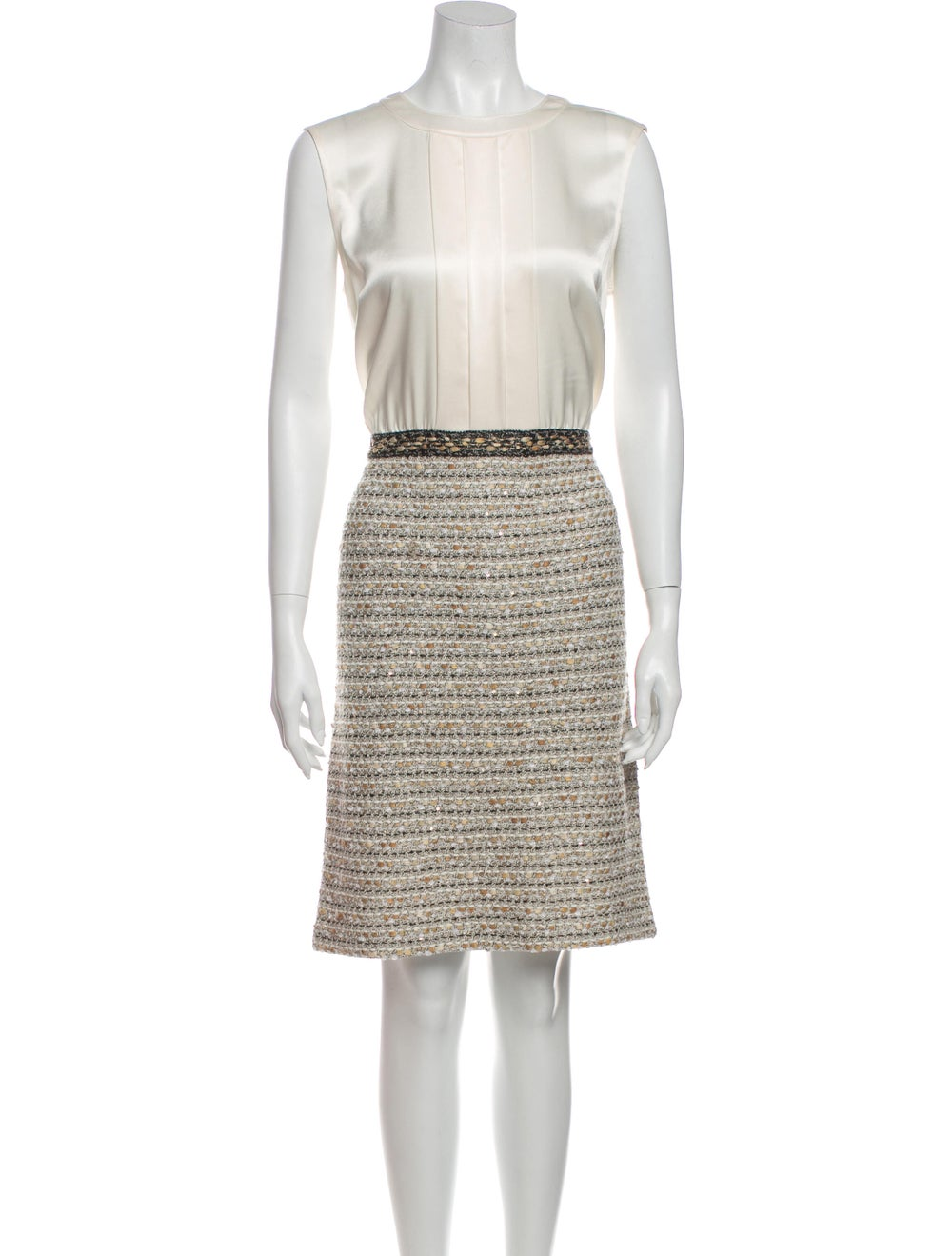 St. John Tweed Pattern Dress Set - image 4