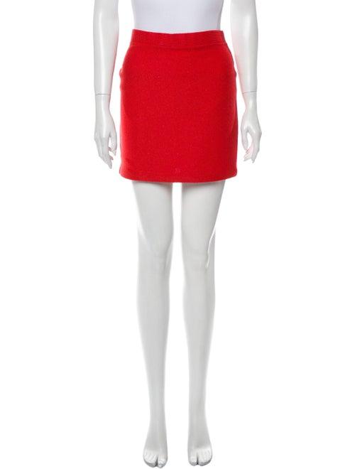St. John Mini Skirt Metallic