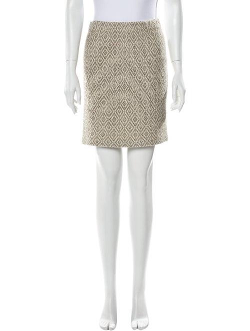 St. John Printed Mini Skirt