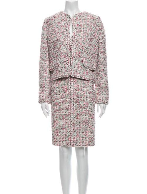 St. John Tweed Pattern Dress Set w/ Tags Pink - image 1