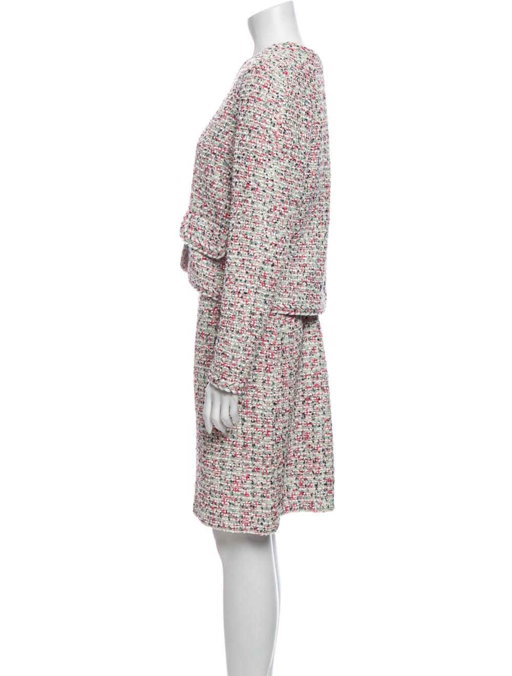 St. John Tweed Pattern Dress Set w/ Tags Pink - image 2