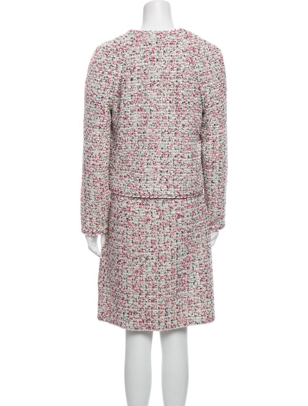 St. John Tweed Pattern Dress Set w/ Tags Pink - image 3