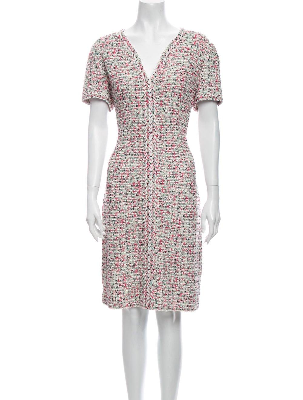 St. John Tweed Pattern Dress Set w/ Tags Pink - image 4