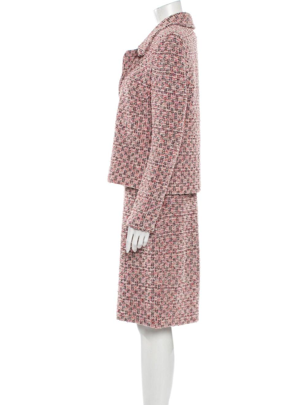 St. John Tweed Pattern Dress Set Pink - image 2