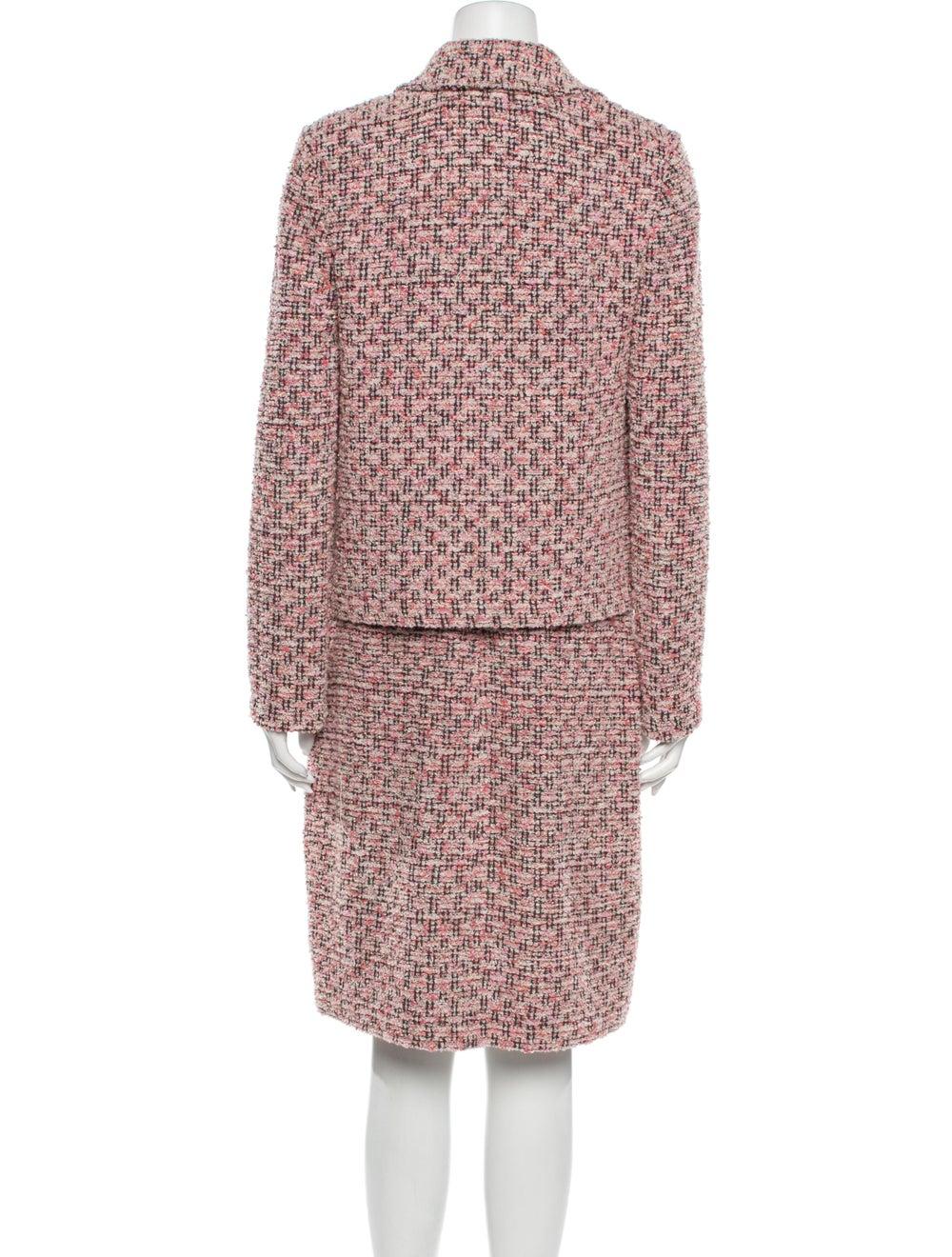 St. John Tweed Pattern Dress Set Pink - image 3
