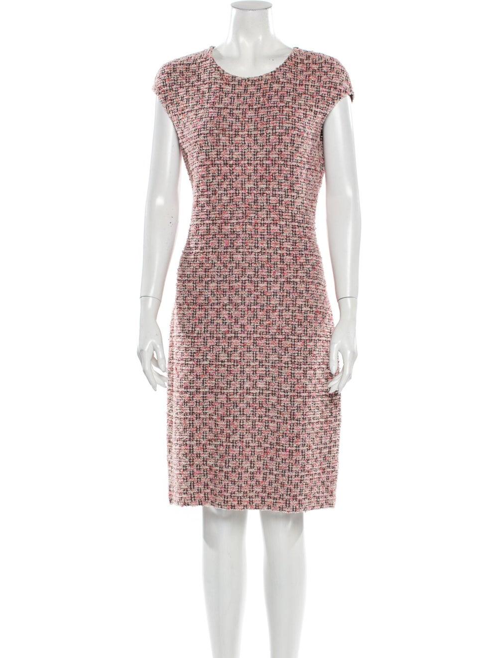 St. John Tweed Pattern Dress Set Pink - image 4