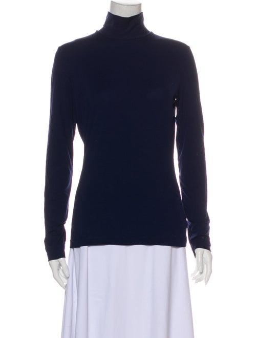 St. John Turtleneck Long Sleeve Sweatshirt Blue