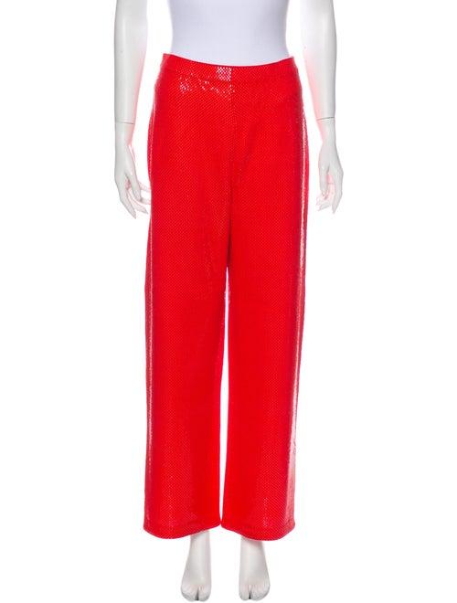St. John Wide Leg Pants Orange
