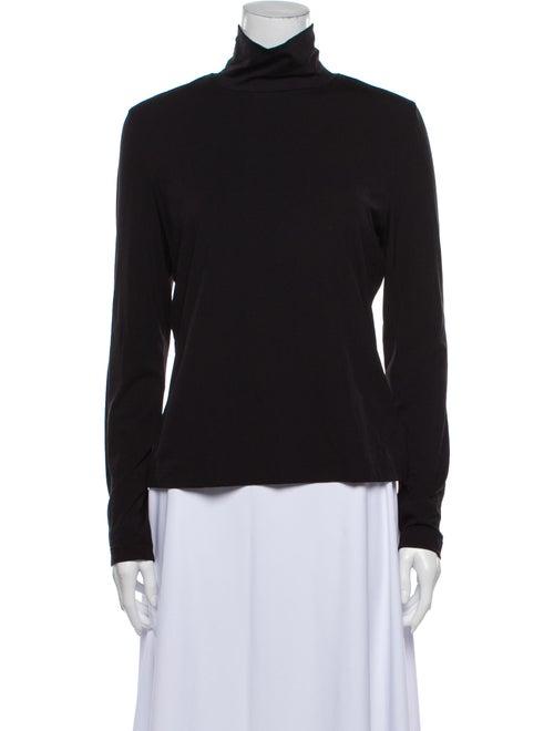 St. John Turtleneck Long Sleeve Sweatshirt Black