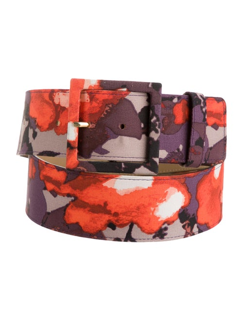 St. John Floral Hip Belt Purple