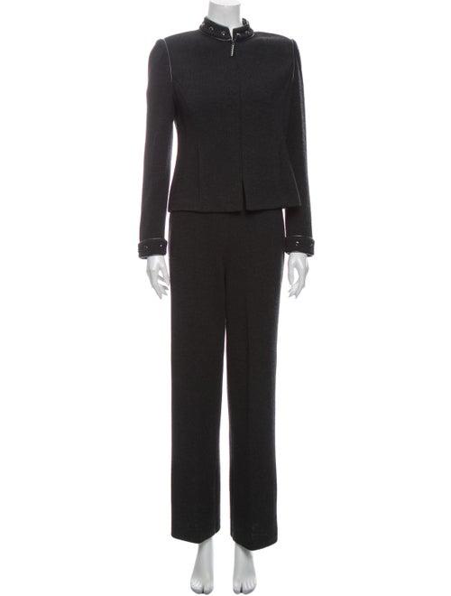 St. John Wool Skirt Suit Wool