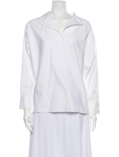 St. John Long Sleeve Blouse White