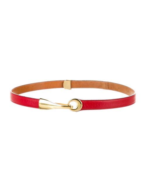 St. John Leather Waist Belt Red