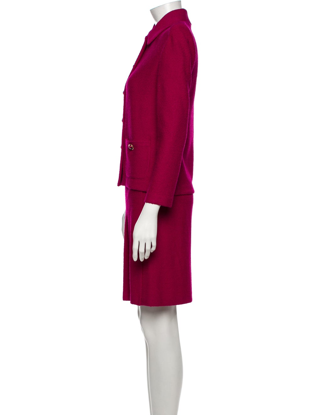 St. John Pleated Accents Skirt Suit Pink - image 2