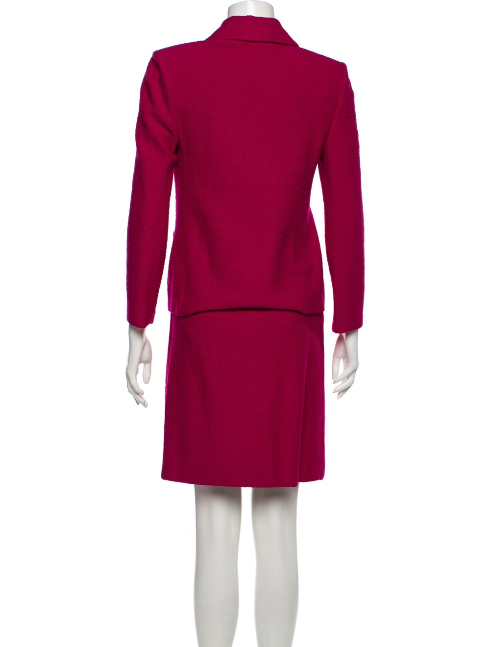 St. John Pleated Accents Skirt Suit Pink - image 3
