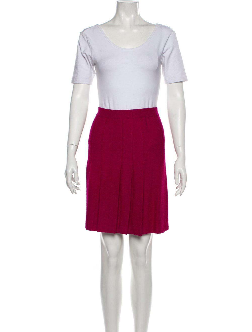 St. John Pleated Accents Skirt Suit Pink - image 4