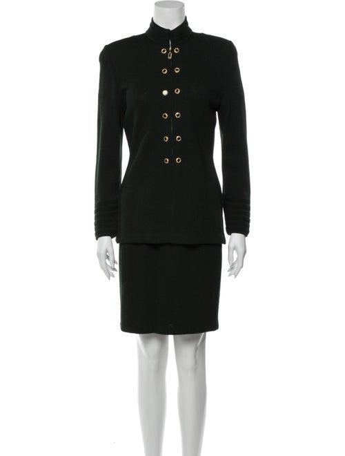 St. John Skirt Suit Green