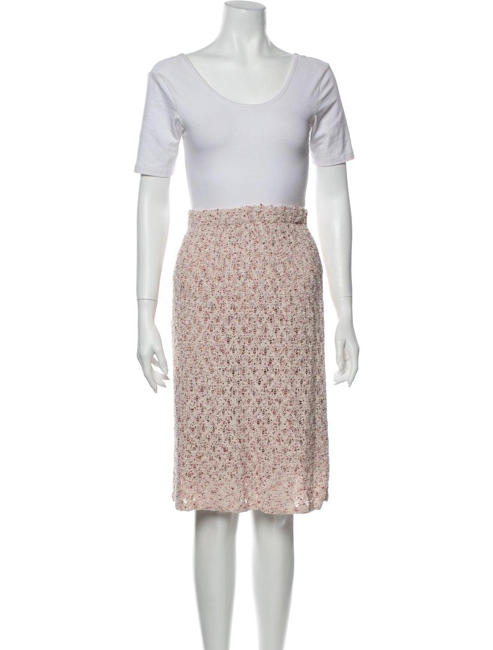 St. John Ruffle Embellishment Skirt Suit Pink - image 4