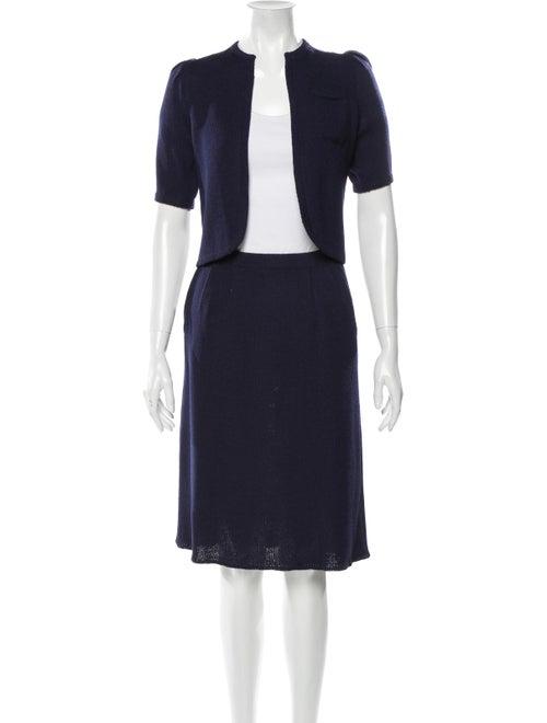 St. John Skirt Suit Blue