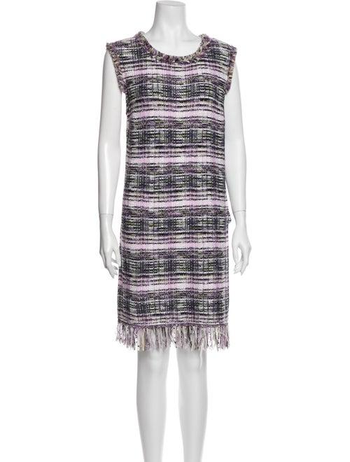 St. John Striped Mini Dress Purple