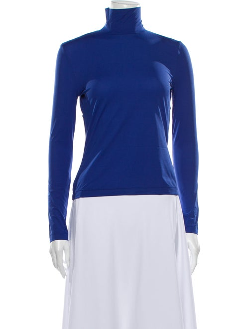 St. John Turtleneck Long Sleeve Sweatshirt Blue