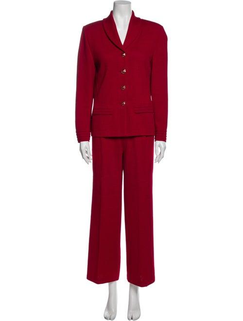 St. John Vintage Pantsuit Red